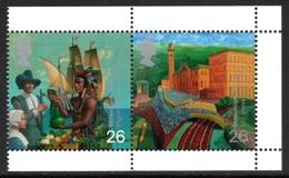 GREAT BRITAIN 1999 Millennium Stamps/Pilgrim Fathers: Pair Of Stamps (ex Booklet) UM/MNH - 1952-.... (Elizabeth II)