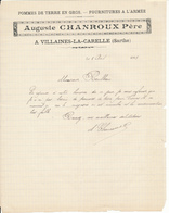 F 72 - VILLAINES-LA-CARELLE, SARTHE, 1915 - Auguste Charroux, Pommes De Terre En Gros - France