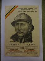 Roi Albert 1er.Casqué.Croix Du Feu.25 Anniversaire.Ixelles.Watermael Boitsfort.1958 - Organisations