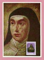 Luxemburg 1982  Mi.Nr. 1054 , Heilige Theresia Von Avila - Maximum Card - Stempel Jour D'Emission Luxembourg 4-5-1982 - Maximum Cards