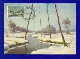 "Luxemburg 1982  Mi.Nr. 1049 , "" Soir D'Hiver"" - Maximum Card - Jour D'Emission Luxembourg 25-2-1982 - Cartes Maximum"