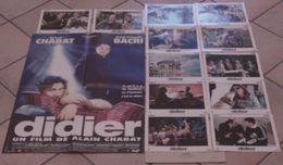 AFFICHE CINEMA ORIGINALE FILM DIDIER + 12 PHOTOS EXPLOITATIONS Alain CHABAT Jean-Pierre BACRI 1997 TBE CHIEN - Posters