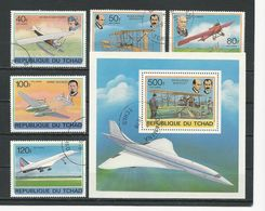 TCHAD  Scott C232-C236, C237 Yvert PA217-PA221, BF24 (5+bloc) O Cote 3,60$ 1978 - Tchad (1960-...)