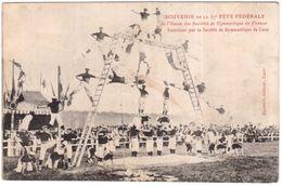 CPA CALVADOS.CAEN.SOUVENIR DE LA 37° FETE FEDERALE DE L'UNION DES SOCIETES DE GYNMASTIQUE DE FRANCE - Caen