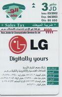 JORDAN PHONECARD LG,FLATRON(no Cn,no Chip) 0164-50000pcs-3/02-SAMPLE(bx1) - Jordan