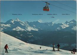 Crans-Montana - Champs De Ski A Bellalui Sur Crans Im Winter En Hiver - Photoglob - VS Valais