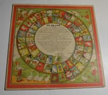 Jeu De L'oie Ancien Avec Petis Chevaux Au Verso, Format 32x32 Cms En Carton Isorel - Other Collections