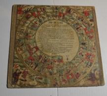 Jeu De L'oie Ancien, Format 24x24 Cms En Carton Fort, Jeu De Dames Au Verso - Other Collections