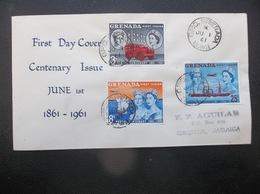 Grenada: 1961 Ca-FDC To Jamaica (#DA7) - Grenada (...-1974)