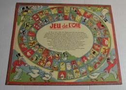 Jeu De L'oie Ancien, Format 33x27 Cms En Carton Fort - Other Collections