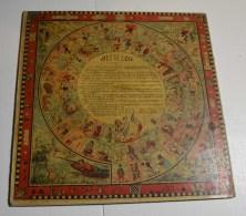 Jeu De L'oie Ancien, Format 27x27 Cms En Carton Isorel, Jeu De Dames Au Verso - Other Collections