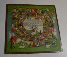 Jeu De L'oie Ancien, Format 25x25 Cms En Carton Fort, Jeu De Dames Au Verso - Other Collections