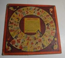 Jeu De L'oie Ancien, Format 32x32 Cms En Carton Fort, Jeu De Dames Au Verso - Other Collections