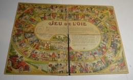 Jeu De L'oie Ancien, Format 49x36 Cms En Carton Fort Pliable En 4 - Other Collections