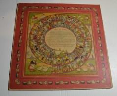 Jeu De L'oie Ancien, Format 34x34 Cms En Carton Fort, Au Verso Jeu De Dames - Other Collections
