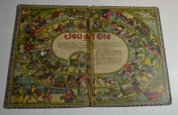 Jeu De L'oie Ancien, Format 38x27 Cms En Carton Fort, En 2 Parties Détachées - Other Collections