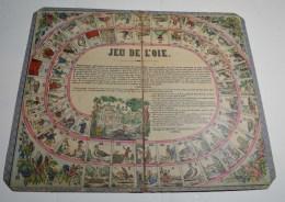 Jeu De L'oie Ancien, Format  45x38 Cms En Carton Fort - Other Collections