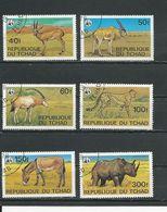 TCHAD  Scott 367-372 Yvert 359-364 (6) O Cote 7,90$ 1979 - Tchad (1960-...)