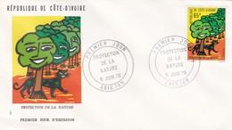 STORIA POSTALE - COSTA D' AVORIO -  BUSTA FDC - PROTECTION DE LA NATURE - PREMIER JOUR D' EMISSION - 1976 - Costa D'Avorio (1960-...)