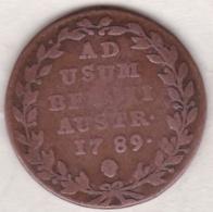 Pays-Bas Autrichiens.  2 Liards  1789 . Joseph II - Belgique