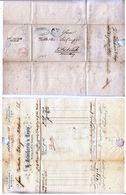 Switzerland 1855 Postal History Rare Stampless Letter To Austria D.1068 - ...-1845 Préphilatélie