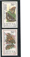 Lithuania1995:ENDANGERED SPECIES(Butterflies) Michel 589-90mnh** - Lituanie