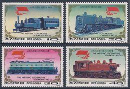 "Korea North 1988 Mi 2970 /3 YT 2007 /0 ** ""Chunggi Nr. 35 + 22 + 3 + 307"" - Railway Locomotive / Historische Lokomotiven - Korea (Noord)"