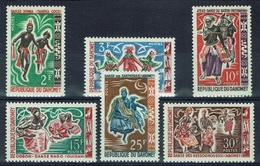 Dahomey (Benin), Folk Dances, 1964, MNH VF  Complete Set Of 6 - Benin - Dahomey (1960-...)