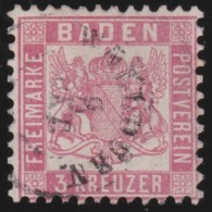 Baden    .    Michel    .     18         .       O           .       Gebraucht     .   /   .    Cancelled - Baden