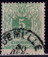 Belgium, 1869-70, Coat Of Arms, 5c, Sc#30, Used - 1905 Thick Beard