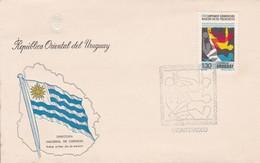 FDC-XXIII CAMPEONATO SUDAMERICANO NATACION SALTOS POLO ACUATICO '76-URUGUAY-TBE-BLEUP - Natation