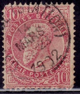 Belgium, 1893-1900, King Leopold, 10c, Sc#66, Used - 1905 Thick Beard
