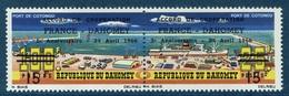 Dahomey (Benin), Cotonou Harbour, Overprint 1966, MNH VF  A Pair Se-tenant - Benin - Dahomey (1960-...)
