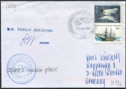 2004 Australia Antarctic A.A.T. AAT Polar A.N.A.R.E. CASEY Expedition Penguin M/V VASILIY GOLOVNIN Ship Cover - Australian Antarctic Territory (AAT)