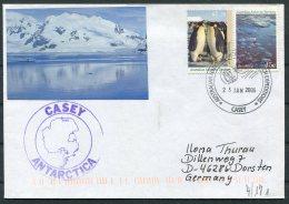 2006 Australia Antarctic A.A.T. AAT Polar A.N.A.R.E. CASEY Expedition Seal Penguin Cover - Australian Antarctic Territory (AAT)
