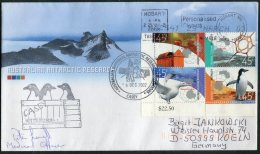 2002 Australia Antarctic A.A.T. Polar A.N.A.R.E. CASEY Expedition Penguin Cover SIGNED Medical Officer - Covers & Documents