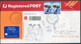 2003 Australia Antarctic A.A.T. Polar A.N.A.R.E. CASEY Expedition Penguin Registered Cover SIGNED Medical Officer - Covers & Documents