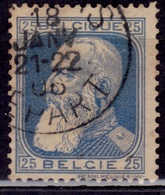 Belgium, 1905-11, King Leopold, 25c, Sc#87, Used - 1905 Thick Beard