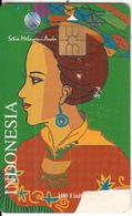INDONESIA(chip) - Betawi Woman 2, Telkom Telecard 100 Units, Tirage 40000, 04/98, Used - Indonesia
