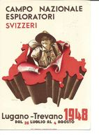 Switzerland / Suisse, 1948, Cachet Spécial Campo Nazionale Esploratori Lugano. Carte Illustrée Swiss Jamboree - Scoutisme