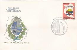 FDC-60 ANIVERSARIO URUGUAY PRIMER CAMPEON MUNDIAL DE FUTBOL. '90.-URUGUAY-TBE-BLEUP - 1930 – Uruguay