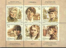 SRB 2015-641-6 I WW JUGOSLAWIEN ENGLAND BRITISH HEROINES IN SERBIA BOOKLET MNH - Serbien