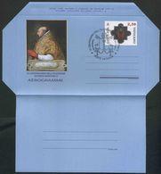 2017 Vaticano, Aerogramma VI Centenario Elezione Papa Martino V°, Serie Completa Con Annullo Ufficiale - Interi Postali