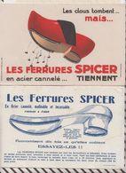 8/4  BUVARD LES FERRRURES SPICER CLOUS Lot De 2 Buvards - Shoes