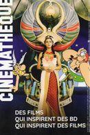 CARTON PUBLICITAIRE CINEMATHEQUE Exposition GOSCINNY Et Le CINEMA  *Asterix *Lucky Luke & Cie - Advertising