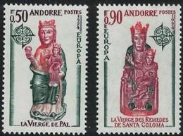 Andorra Andorre Cept 1974 Yvertn° 237-238 *** MNH Cote 55 Euro - Andorre Français