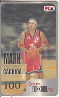 """PHILIPPINES(chip) - Basketball/PBA, """"The Spark"""" Mark Caguioa, Chip GEM3.1, Exp.date 31/12/03, Used - Philippines"""