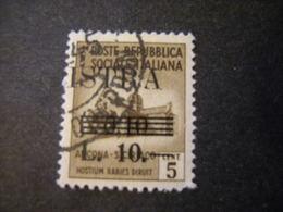 OCCUPAZ. IUGOSLAVA - ISTRIA, 1945, Sass. N. 39, L. 10  Su C. 10 Su C. 5, Usato, TTB - Jugoslawische Bes.: Istrien