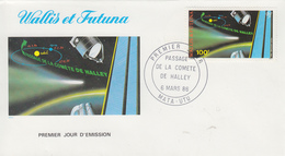 Enveloppe  FDC  1er  Jour   WALLIS  ET  FUTUNA    Astronomie :  Passage  De  La  Cométe  De  HALEY   1986 - Astronomie