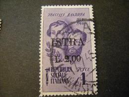 OCCUPAZ. IUGOSLAVA - ISTRIA, 1945, Sass. N. 32 , L. 2 Su L. 1, Usato, TTB - Jugoslawische Bes.: Istrien